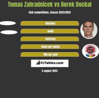 Tomas Zahradnicek vs Borek Dockal h2h player stats