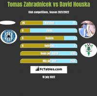 Tomas Zahradnicek vs David Houska h2h player stats