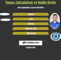 Tomas Zahradnicek vs Radim Breite h2h player stats