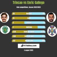 Trincao vs Enric Gallego h2h player stats