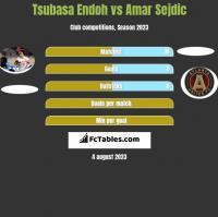 Tsubasa Endoh vs Amar Sejdic h2h player stats