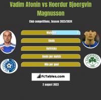Vadim Afonin vs Hoerdur Bjoergvin Magnusson h2h player stats