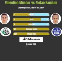Valentino Mueller vs Stefan Haudum h2h player stats