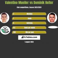 Valentino Mueller vs Dominik Reiter h2h player stats