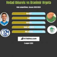 Vedad Ibisevic vs Branimir Hrgota h2h player stats
