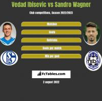 Vedad Ibisevic vs Sandro Wagner h2h player stats