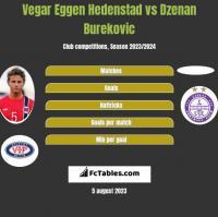 Vegar Eggen Hedenstad vs Dzenan Burekovic h2h player stats