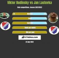 Viktor Budinsky vs Jan Lastuvka h2h player stats