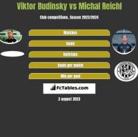 Viktor Budinsky vs Michal Reichl h2h player stats