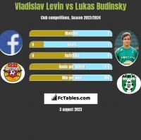 Vladislav Levin vs Lukas Budinsky h2h player stats