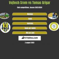 Vojtech Srom vs Tomas Grigar h2h player stats