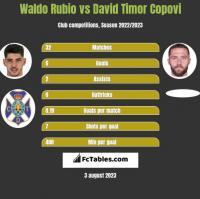 Waldo Rubio vs David Timor Copovi h2h player stats