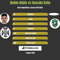 Waldo Rubio vs Gonzalo Avila h2h player stats