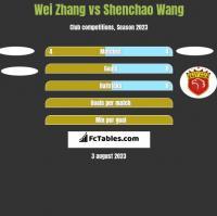 Wei Zhang vs Shenchao Wang h2h player stats