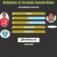 Wellington vs Fernando Canesin Matos h2h player stats
