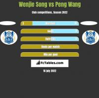 Wenjie Song vs Peng Wang h2h player stats