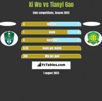 Xi Wu vs Tianyi Gao h2h player stats
