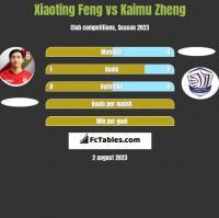 Xiaoting Feng vs Kaimu Zheng h2h player stats