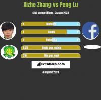 Xizhe Zhang vs Peng Lu h2h player stats