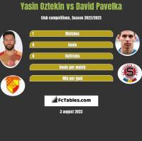 Yasin Oztekin vs David Pavelka h2h player stats