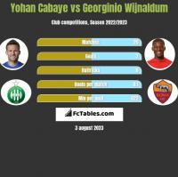 Yohan Cabaye vs Georginio Wijnaldum h2h player stats