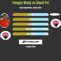Yongpo Wang vs Shuai Pei h2h player stats