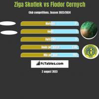 Ziga Skoflek vs Fiodor Cernych h2h player stats