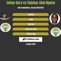 Zoltan Gera vs Tokmac Chol Nguen h2h player stats