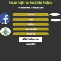 Zoran Gajic vs Kostadin Nichev h2h player stats