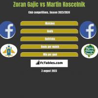 Zoran Gajic vs Martin Koscelnik h2h player stats