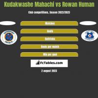Kudakwashe Mahachi vs Rowan Human h2h player stats