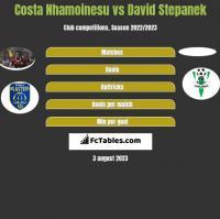 Costa Nhamoinesu vs David Stepanek h2h player stats