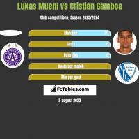 Lukas Muehl vs Cristian Gamboa h2h player stats