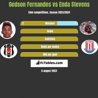 Gedson Fernandes vs Enda Stevens h2h player stats
