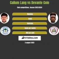 Callum Lang vs Devante Cole h2h player stats