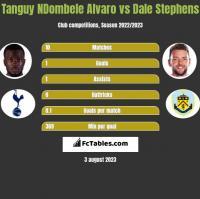 Tanguy NDombele Alvaro vs Dale Stephens h2h player stats