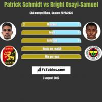 Patrick Schmidt vs Bright Osayi-Samuel h2h player stats