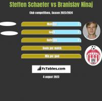 Steffen Schaefer vs Branislav Ninaj h2h player stats