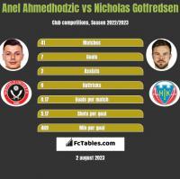 Anel Ahmedhodzic vs Nicholas Gotfredsen h2h player stats