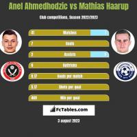 Anel Ahmedhodzic vs Mathias Haarup h2h player stats