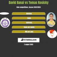 David Banai vs Tomas Kosicky h2h player stats