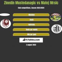 Zinedin Mustedanagic vs Matej Mrsic h2h player stats