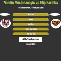 Zinedin Mustedanagic vs Filip Havelka h2h player stats