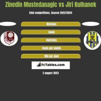 Zinedin Mustedanagic vs Jiri Kulhanek h2h player stats