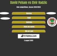 David Peham vs Elvir Hadzic h2h player stats