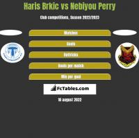 Haris Brkic vs Nebiyou Perry h2h player stats