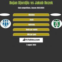 Bojan Djordjic vs Jakub Rezek h2h player stats