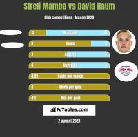 Streli Mamba vs David Raum h2h player stats