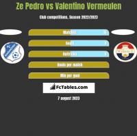 Ze Pedro vs Valentino Vermeulen h2h player stats