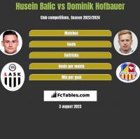 Husein Balic vs Dominik Hofbauer h2h player stats